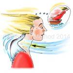 Hilft bei Schulterverspannungen: Der Trapezius flattert im Wind